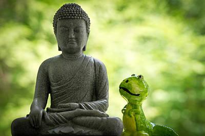 Buddha And Buddy Art Print by Edward Myers