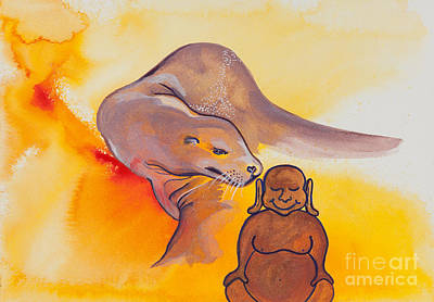 Buddha And The Divine Sea Lion No. 2089 Original by Ilisa Millermoon