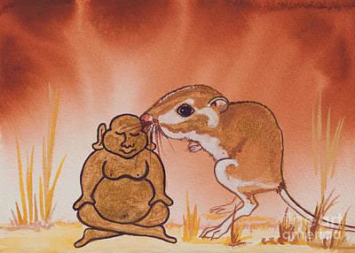Buddha And The Divine Kangaroo Rat No. 2279 Original by Ilisa Millermoon
