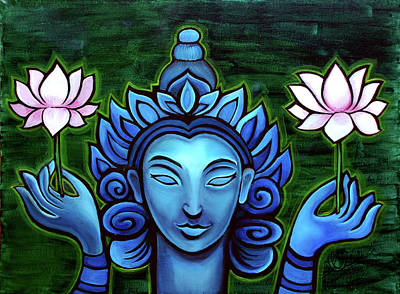 Painting - Buddha And The Lotuses by Eleanor Hofer