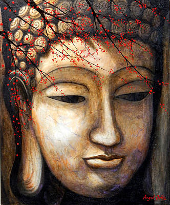 Siddharta Painting - Buddha by Angel Ortiz