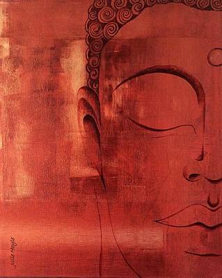 Mixed Media - Buddha Appears by Julie Hoyle