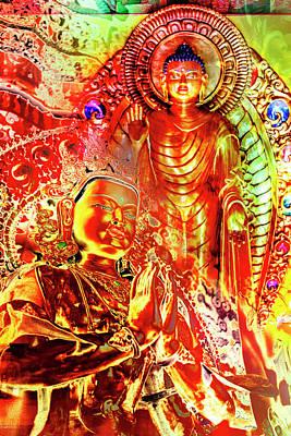 Digital Art - Buddha Art by 2bhappy4ever