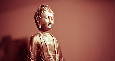 Yoga Photograph - Buddha Art - Warm Pastel Toned Photography by Wall Art Prints