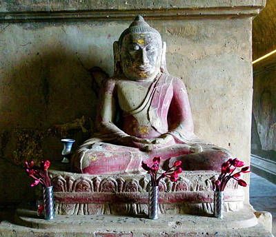 Photograph - Buddha, Bagan by Kurt Van Wagner