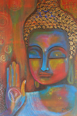 Buddha Blessings Art Print
