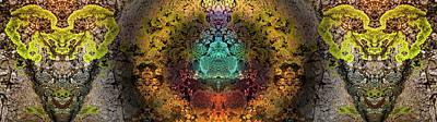 Digital Art - Buddha Buddies by Becky Titus