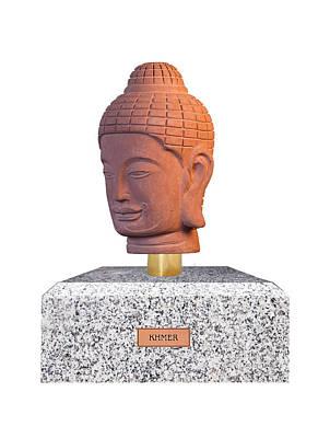 Buddha Photograph - Buddha Bust - Khmer L by Terrell Kaucher