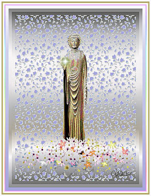 Mixed Media - Buddha Dream by Larry Talley