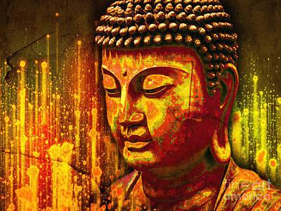 Buddha Eclipse Art Print by Khalil Houri