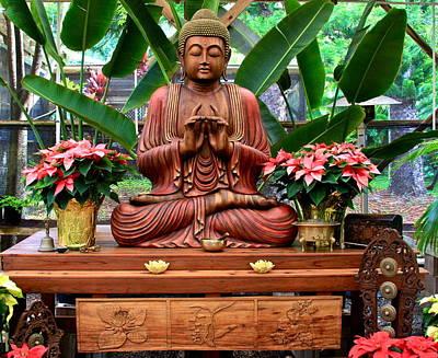 Photograph - Buddha Enlightenment - The Sacred Garden by Karon Melillo DeVega