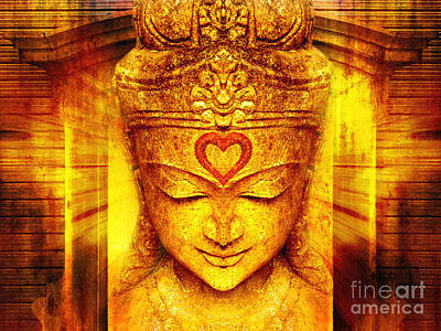 Buddha Statue Digital Art - Buddha Entrance by Khalil Houri