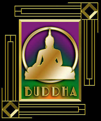 Digital Art - Buddha - Frame 5 by Chuck Staley