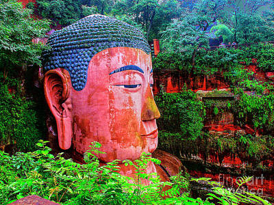 Photograph - Buddha Head China by Rick Bragan