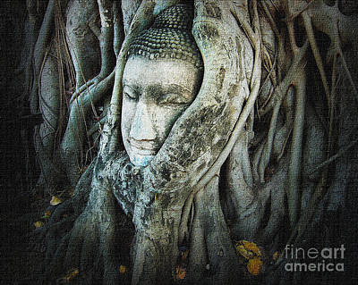 Photograph - Buddha Head by Eena Bo