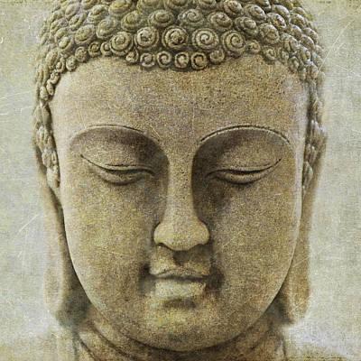 Digital Art - Buddha Head by M Montoya Alicea