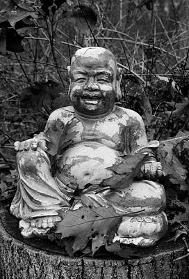 Photograph - Buddha IIi Bw by David Gordon