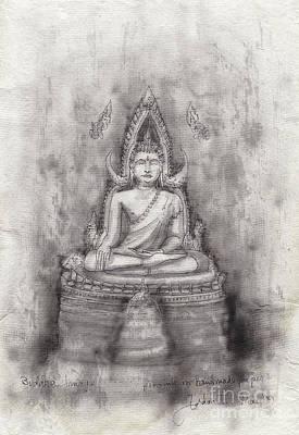 Bangkok Painting - Buddha Image by Gordon Tardio