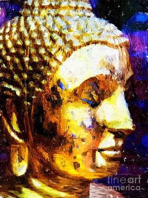 Buddha Immersion Art Print by Khalil Houri