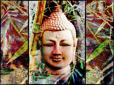 Buddha In Bamboo Art Print by Skip Nall