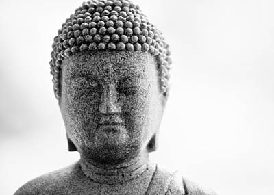 Buddha In Black And White Art Print by Edward Myers