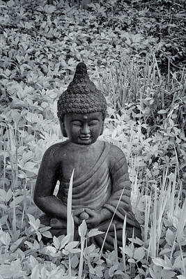 Photograph - Buddha In Black And White by Tom Singleton