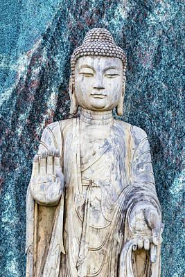 Digital Art - Buddha In Blue by 2bhappy4ever