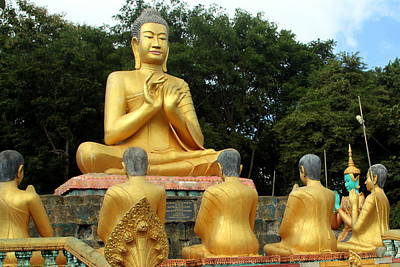 Photograph - Buddha In Cambodia by Laurel Talabere