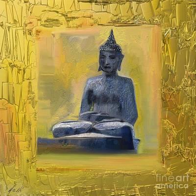 Buddha In Maui - Hawai Art Print by Aline Halle-Gilbert