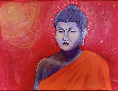 Buddha In Red Art Print