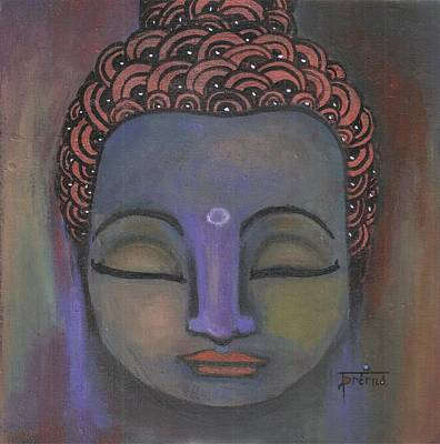Painting - Buddha In Serene Blue Shades by Prerna Poojara