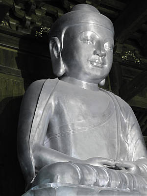 Photograph - Buddha In Solid Silver - Jin'an Temple Shanghai by Christine Till