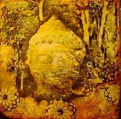 Quan Yin Mixed Media - Buddha In The Forest  by Caterina Martinico