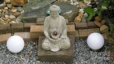 Photograph - Buddha In The Garden by Eva-Maria Di Bella