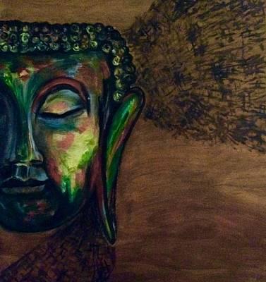Fusion Drawing - Buddha In Trance by Malvika Umang