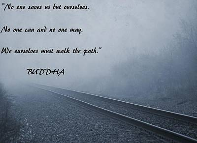 Buddha Inspirational Quote Art Print by Dan Sproul