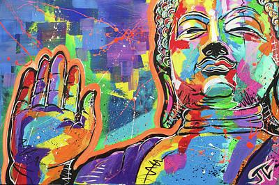 Painting - Buddha  by Jay V Art