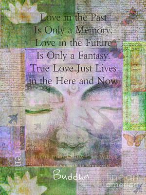 Buddha Love Quote Art Print