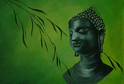 Painting - Buddha by Lynn Hughes