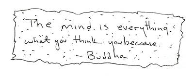 Buddha Art Print by Michael Mooney