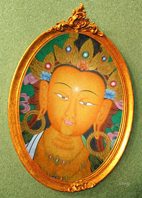 Print featuring the painting Buddha Mirror by Robby Donaghey