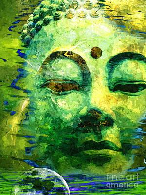 Buddha Moon Art Print by Khalil Houri