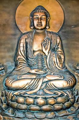 Photograph - Buddha Mural by Marius Sipa