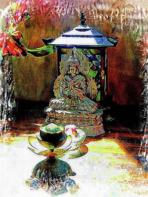 Photograph - Buddha Offerings by Dorothy Berry-Lound