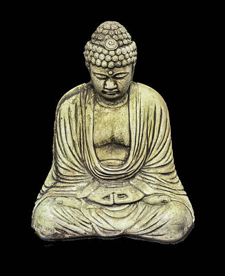 Photograph - Buddha On Black by Jim Dollar