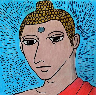 Painting - Siddhartha The Buddha by Paulo Guimaraes