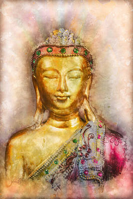 Photograph - Buddha Peace Love And Light by Ray Van Gundy