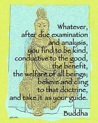 Buddha Quote 3 Art Print