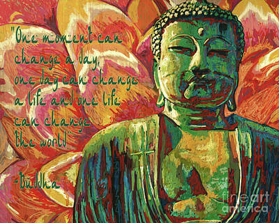 Mixed Media - Buddha Quote by Maria Arango