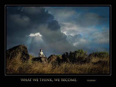 Digital Art - Buddha Quote by Rick Mosher